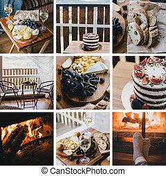 Autumn home details collage.