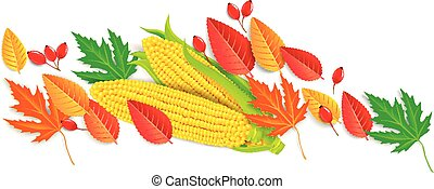 Autumn horizontal banner