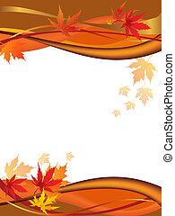 Autumn - Illustration with autumn leaves