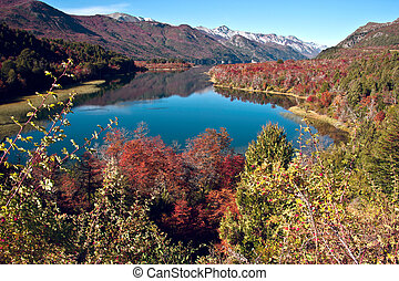 Autumn in Bariloche, Patagonia, Argentina - Autumn Colors in...