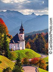 Autumn in Bavarian Alps.
