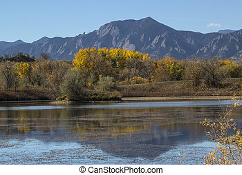 Autumn in Boulder Colorado - Fall Color View of the Boulder...