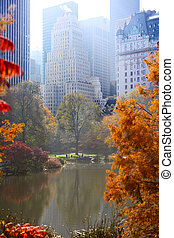 Autumn in Central Park - Central Park in autumn and...