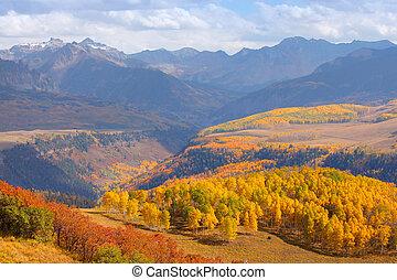 Autumn in Colorado - Colorful landscape of San Juan...