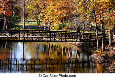 Autumn in Michigan - Beautiful autumn landscape in a...