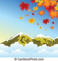 Autumn in mountain - Illustration autumn in mountain high
