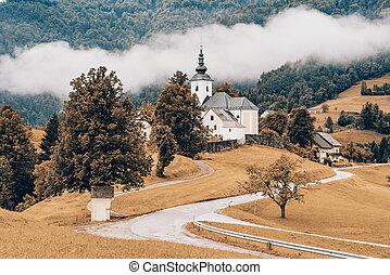 Autumn in rural countryside, Slovenia