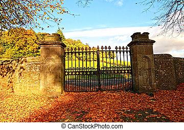 Autumn in Scotland, October