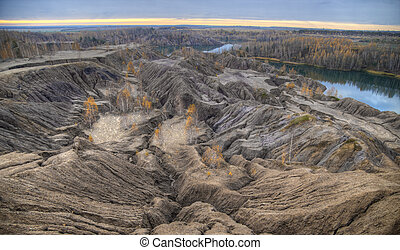Autumn in the Abandoned Sand Quarry