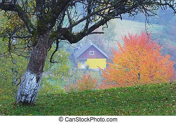Autumn in the mountain village