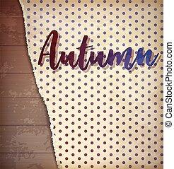 Autumn invitation background, vector illustration