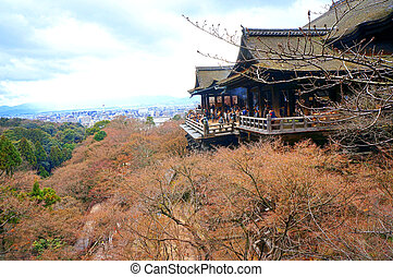 Autumn Kiyomizu-dera Temple in Kyoto, Japan.