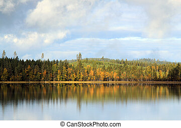 Autumn Lake - Autumn at Lake Yxen, Leksand, Sweden
