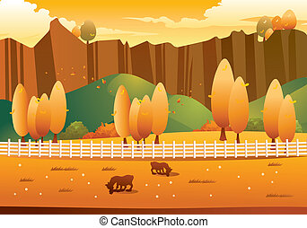 Autumn Landscape - autumn farm landscape for your autumn ...