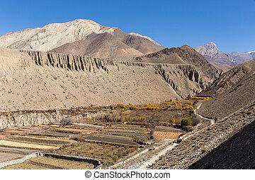 autumn landscape, Himalayas