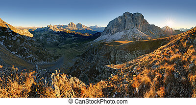 Autumn landscape in Dolomites Alps, Italy