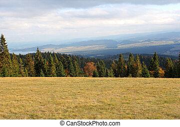 autumn landscape in Gorce mountains, Nowy Targ, Poland