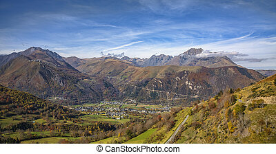 Autumn Landscape in Pyrenees