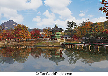 Autumn landscape in South Korea Gyeongbokgung Palace