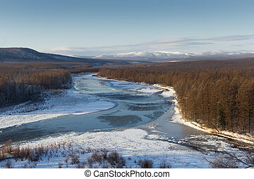 autumn landscape in South Yakutia