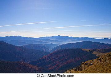 Autumn landscape in the Carpathian mountains.