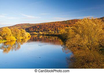 Autumn landscape near the Berounka river