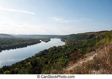 autumn landscape of the Dniester River