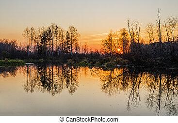 Autumn landscape. Russia - Beautiful autumn landscape. The...