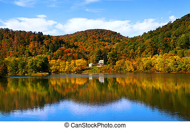 Autumn landscape - Scenic landscape in Michigan upper...
