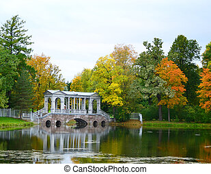 Autumn landscape with Siberian Marble Gallery.