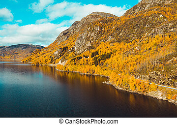 Autumn Landscapes in Norway - by fjords and mountains