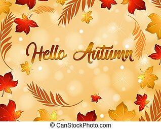 Autumn leaf background template