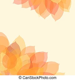 Autumn leaf background with space for text, vector illustration