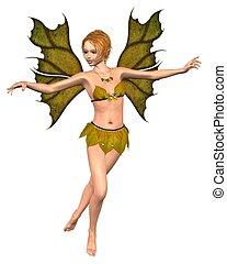 Autumn Leaf Fairy - dancing