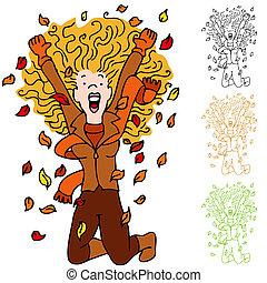 Autumn Leaf Girl