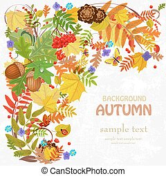 Autumn leaf pattern for your design