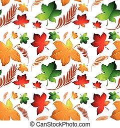 Autumn leaf seamless background