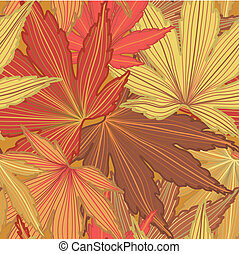 Autumn Leaf Seamless Background