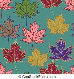 autumn leaf seamless pattern