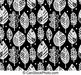 Autumn leaf, seamless pattern for your design
