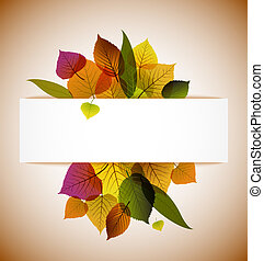 Autumn leafs abstract background