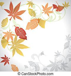 Autumn leafs background