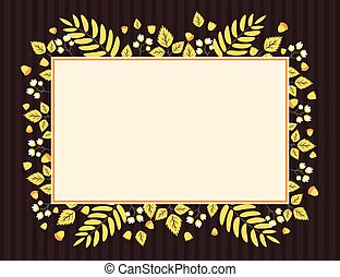 Autumn leaves and flowers banner
