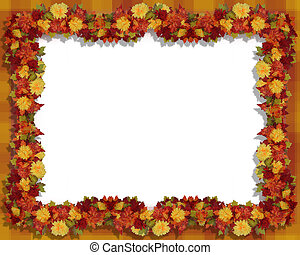 Autumn Leaves and flowers Frame