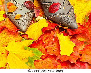 autumn leaves and shoes