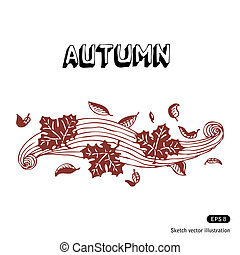 Autumn leaves and wind