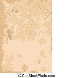 Autumn leaves antique background - Antique stile Autumn...