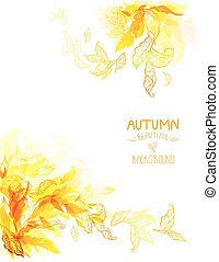 Autumn leaves art background