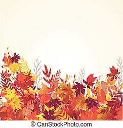 Autumn leaves background - Autumn background with maple...
