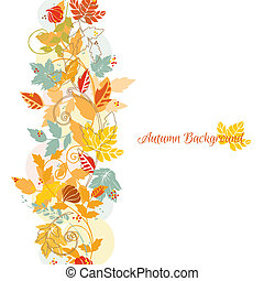 Autumn Leaves Background - for scrapbook and design - in vector